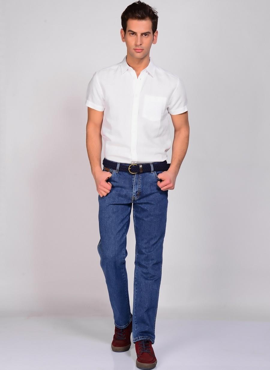 Renksiz Lee amp; Wrangler & W12133010 Texas Stretch Klasik Pantolon Erkek Giyim