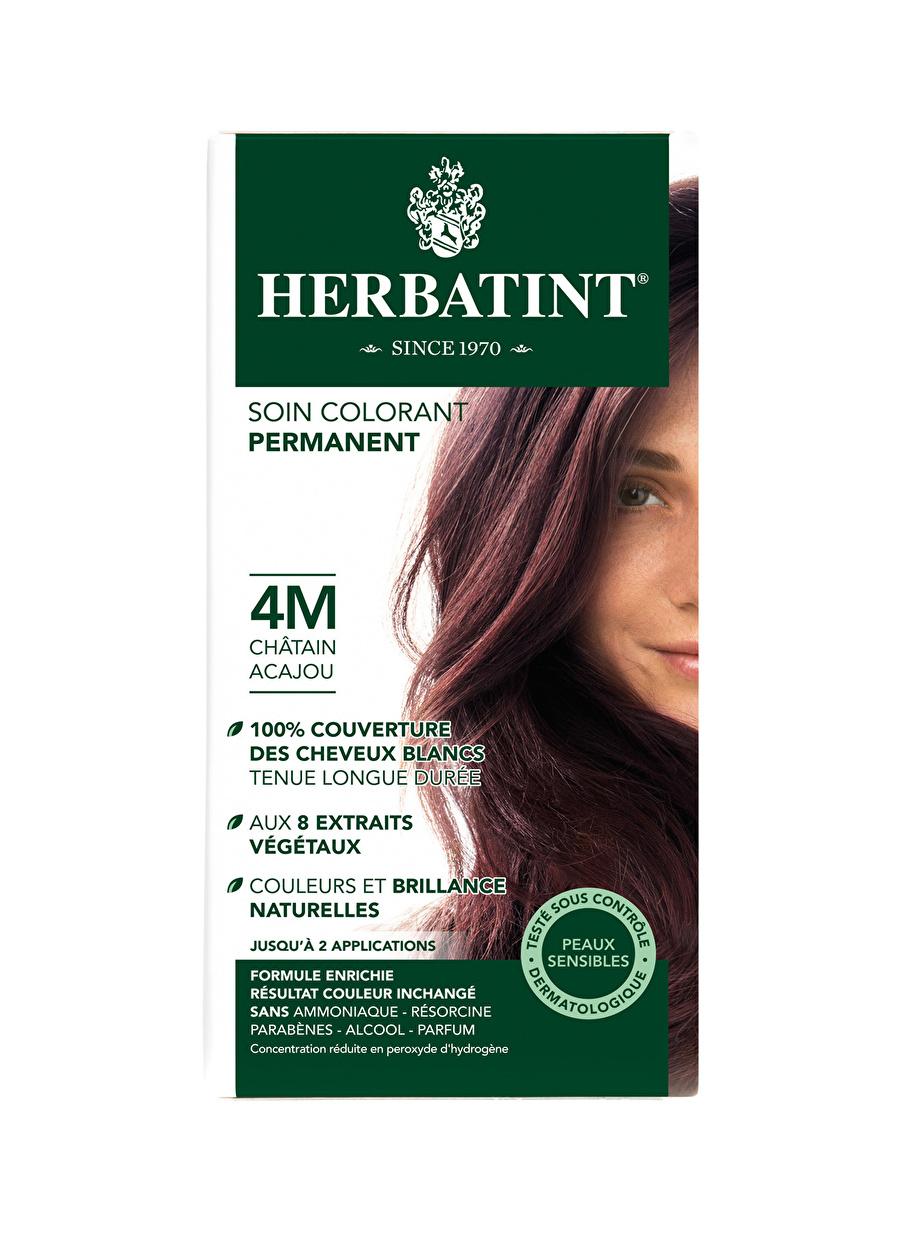Standart Kadın Renksiz Herbatint 4M Chatain Acajou Saç Boyası Kozmetik Bakımı Şampuan