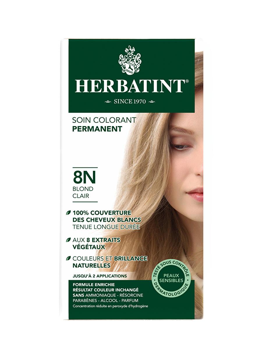 Standart Kadın Renksiz Herbatint 8N Blond Clair Saç Boyası Kozmetik Bakımı Şampuan