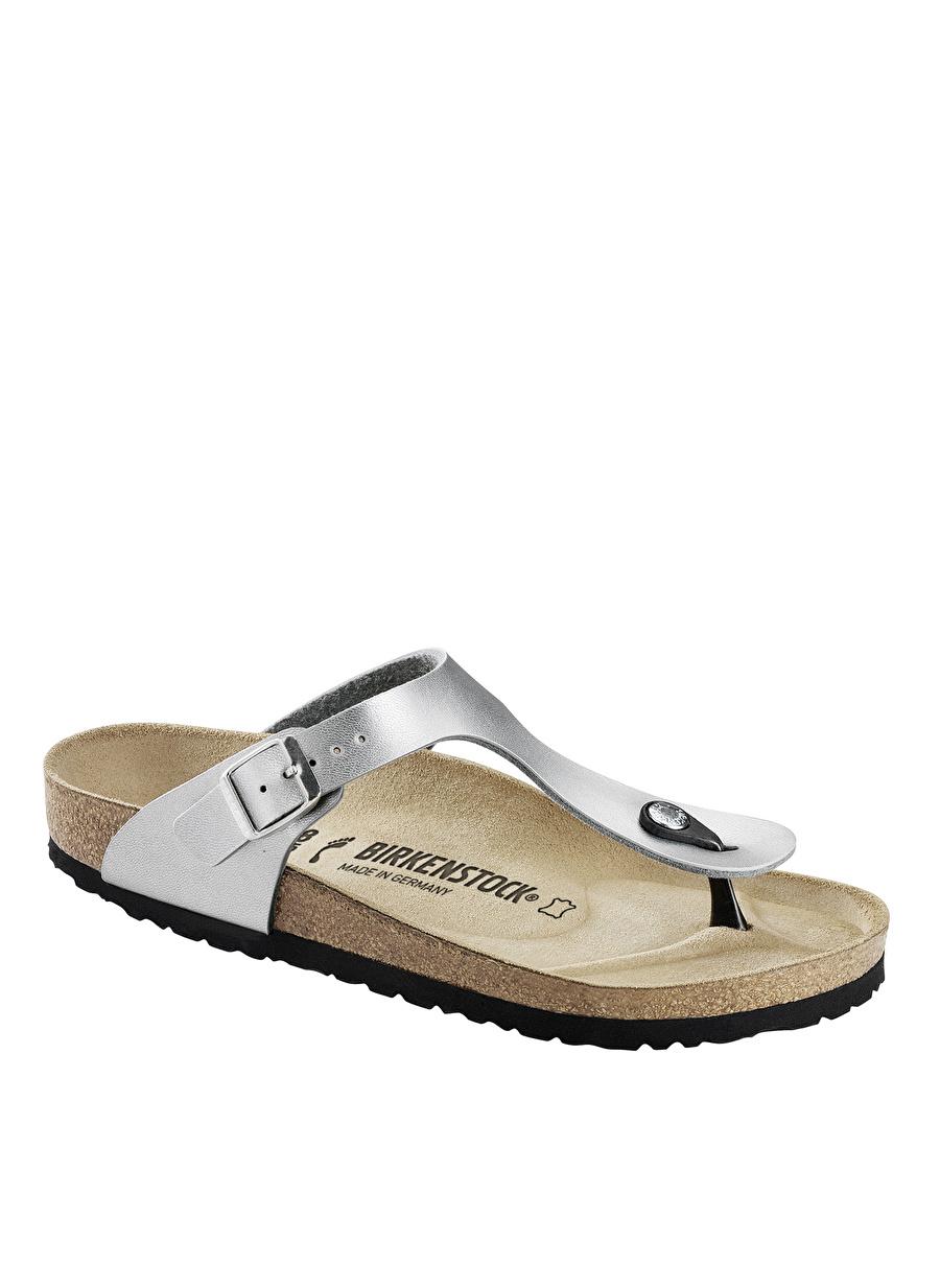 39 Gümüş Birkenstock Terlik Ayakkabı Çanta Kadın Sandalet