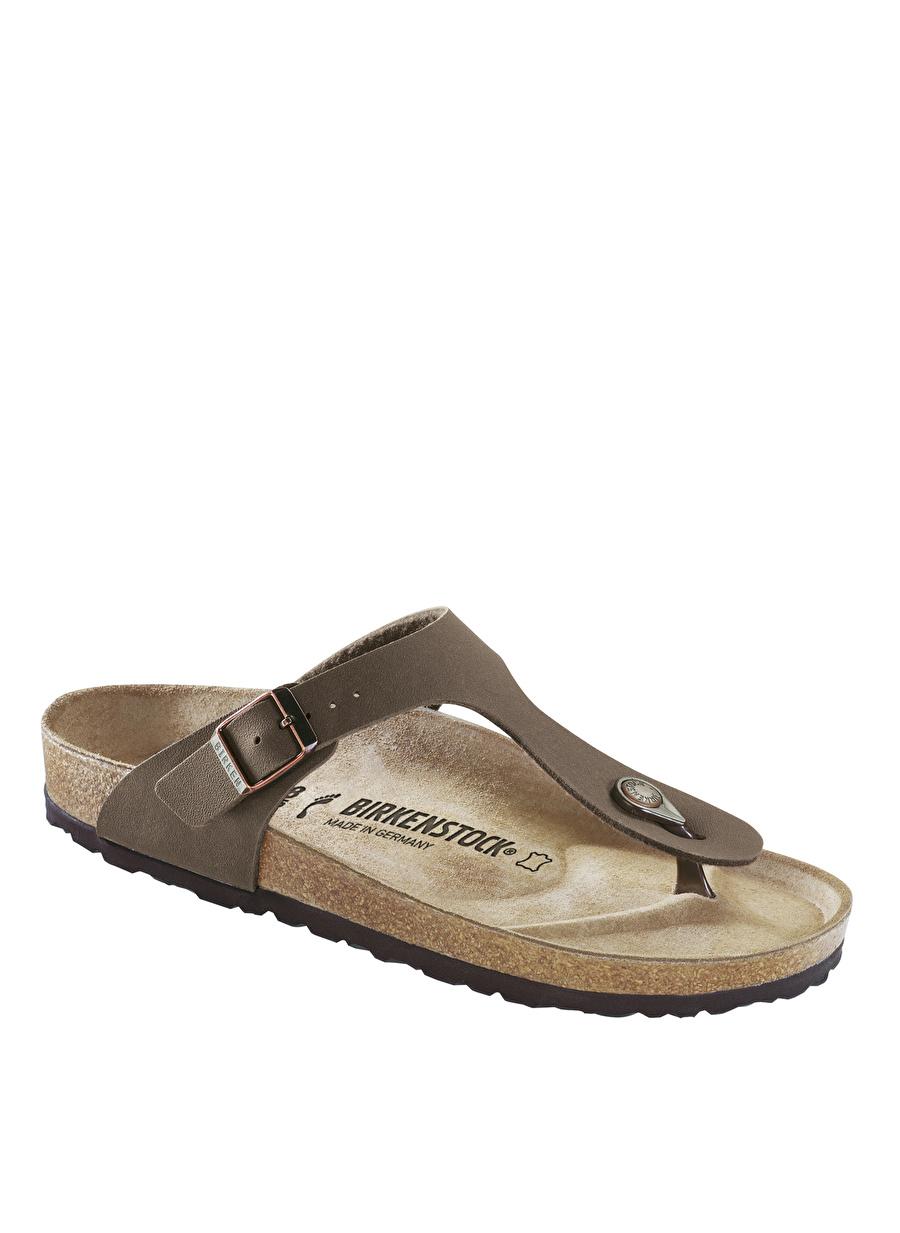 40 Kahve Birkenstock Nubuk Mocca Terlik Ayakkabı Çanta Kadın Sandalet