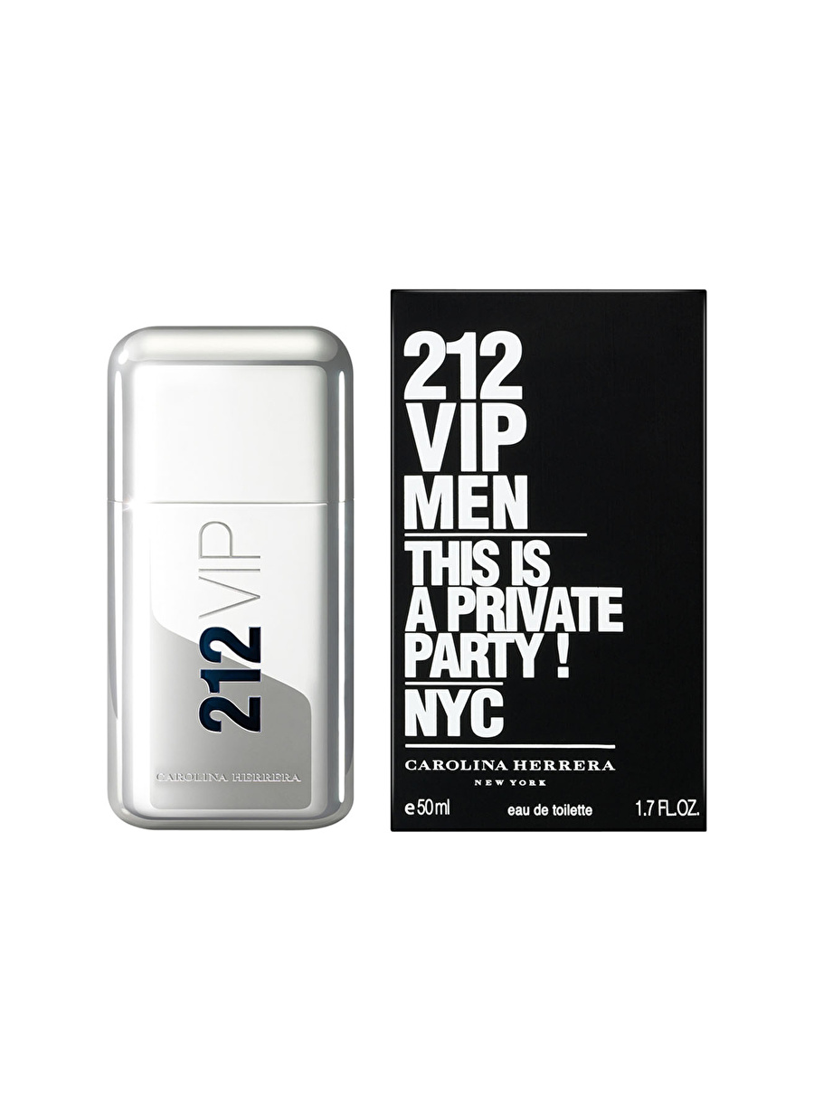 Standart Renksiz Carolina Herrera 212 Vip Edt 50 ml Erkek Parfüm Kozmetik