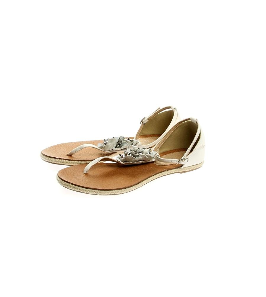 38 Bej Pi Sandalet Kadın Terlik