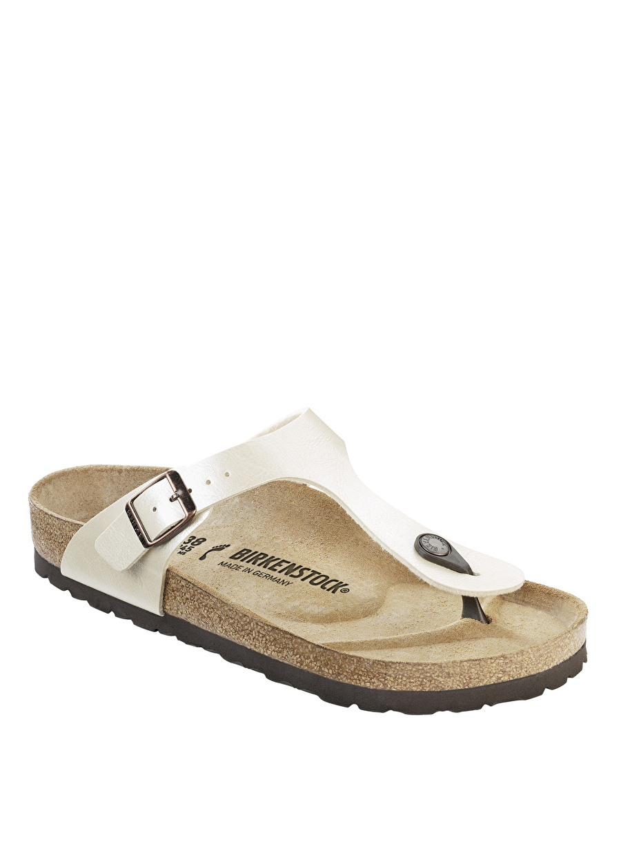 40 Beyaz Birkenstock Parmak Arası Terlik Ayakkabı Çanta Kadın Sandalet