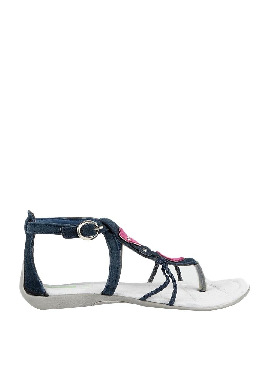 31 Kadın Koyu Lacivert Benetton Plaj Terliği Ayakkabı Çanta Çocuk Ayakkabıları Terlik Sandaletler