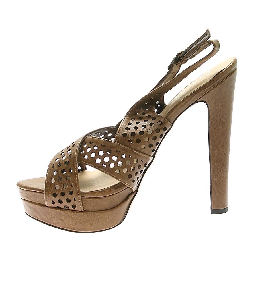 40 Taba Canzone Topuklu Ayakkabı Çanta Kadın