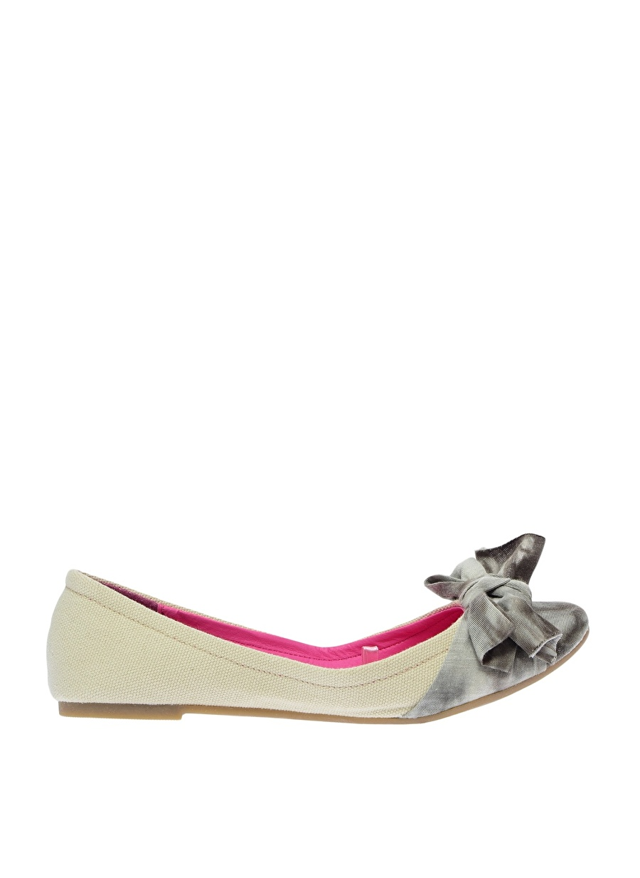 39 Bej Canzone Babet Ayakkabı Çanta Kadın