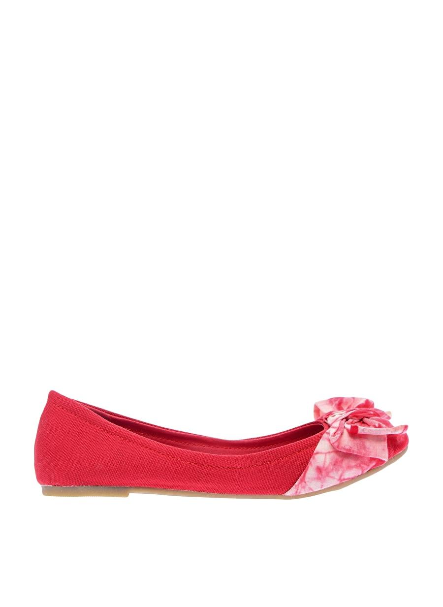 39 Kırmızı Canzone Babet Ayakkabı Çanta Kadın