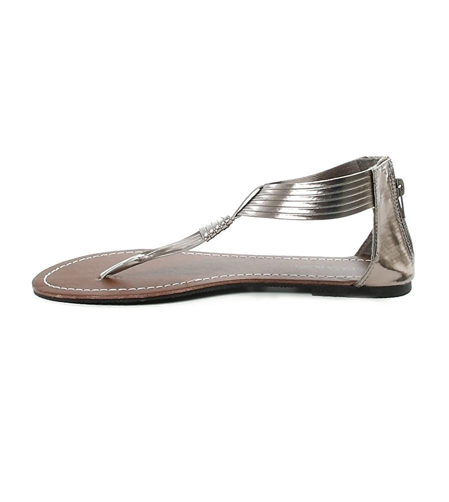38 Kurşun Ves Deri Parmak Arası Sandalet Kadın Terlik