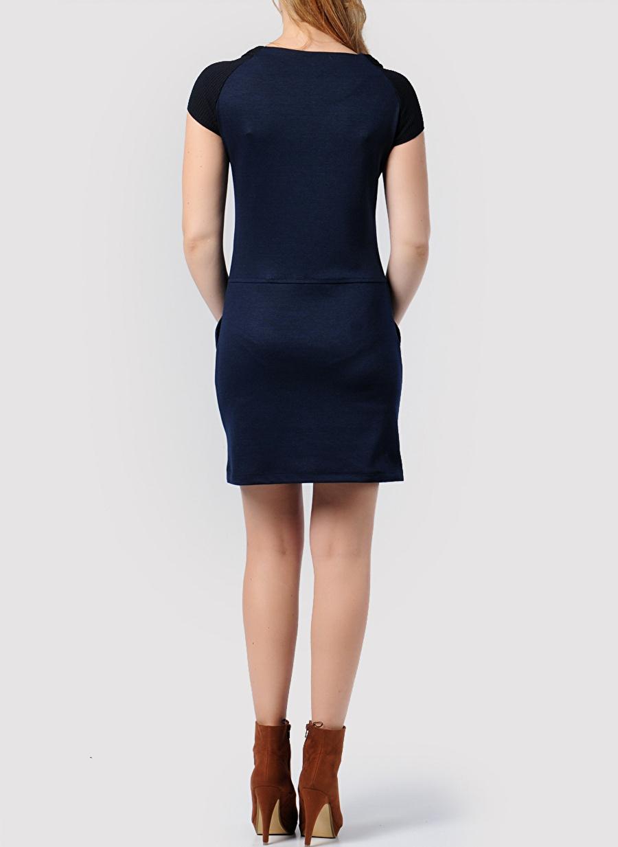 40 Antrasit Caramel Elbise Kadın Giyim