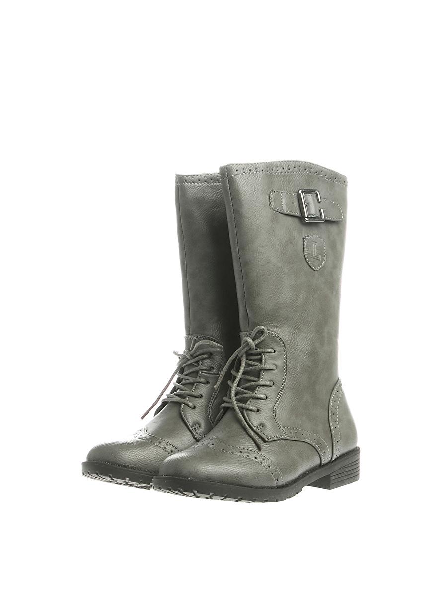 35 unisex Gri Limon Çizme Ayakkabı Çanta Çocuk Ayakkabıları BotÇizmeler