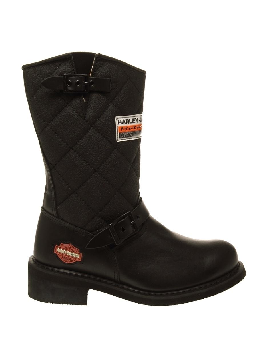 40 Siyah Harley Davidson Laconia Bot Ayakkabı Çanta Kadın Çizme