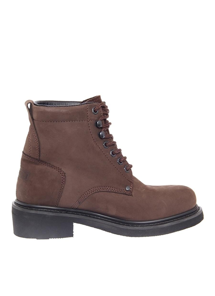 45 Koyu Kahve Harley Davidson Deri Kahverengi Bot Ayakkabı Çanta Erkek Çizme