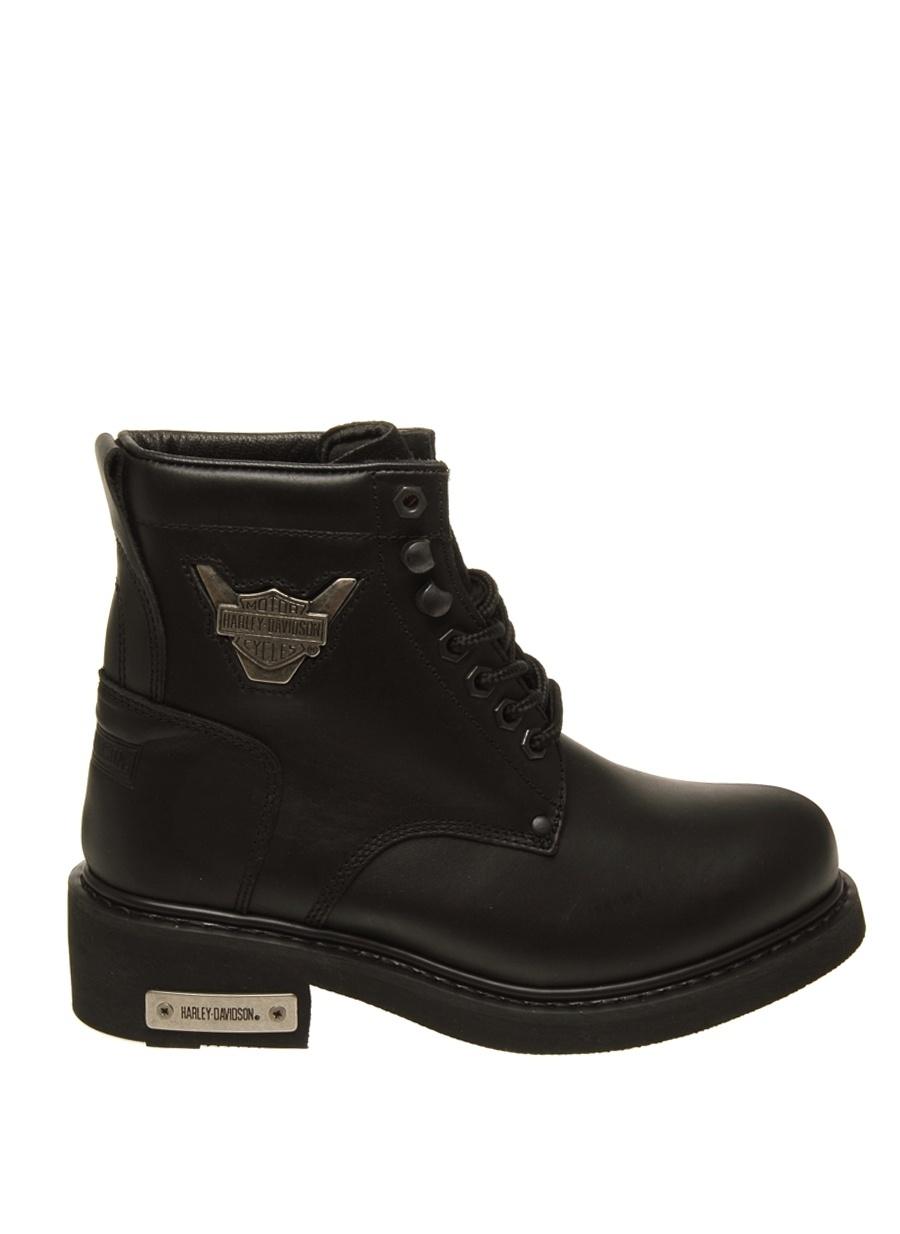 37 Siyah Harley Davidson Bot Ayakkabı Çanta Kadın Çizme