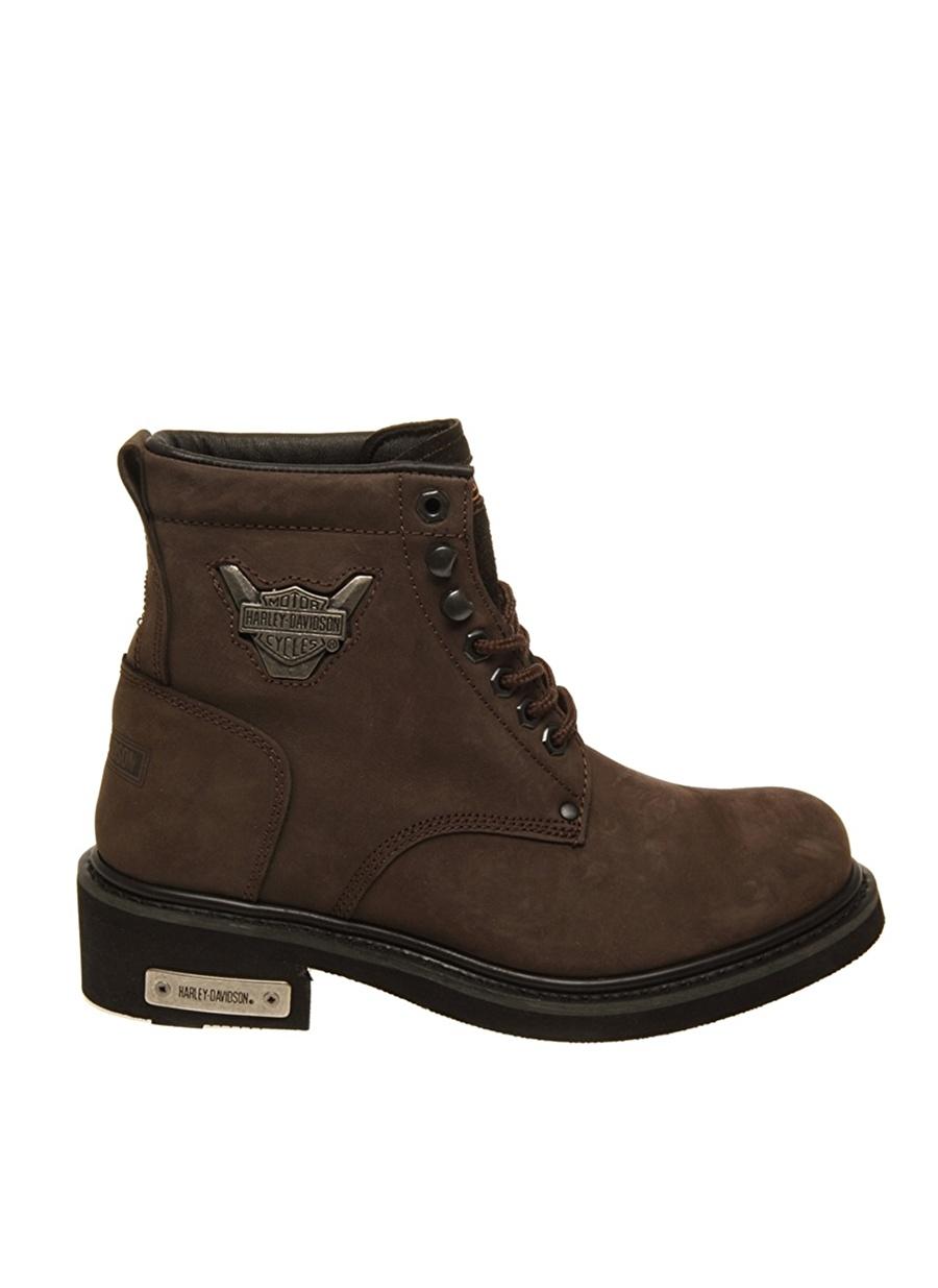 39 Koyu Kahve Harley Davidson Gibson Bot Ayakkabı Çanta Kadın Çizme