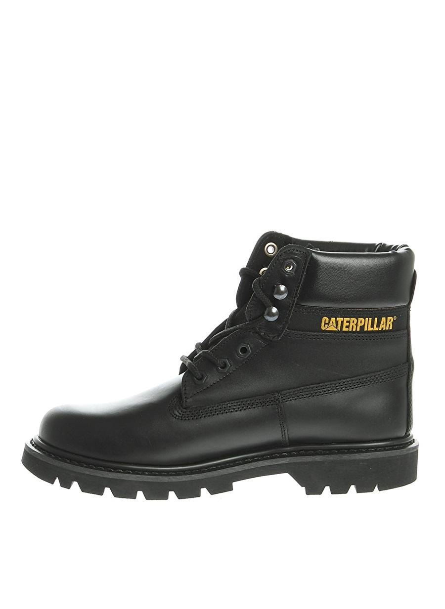 45 Siyah Caterpillar Deri Bot Ayakkabı Çanta Erkek Çizme