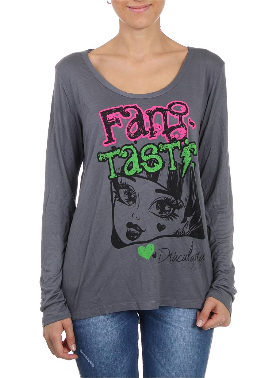 M Kadın Antrasit Monster High Bluz Çocuk Giyim