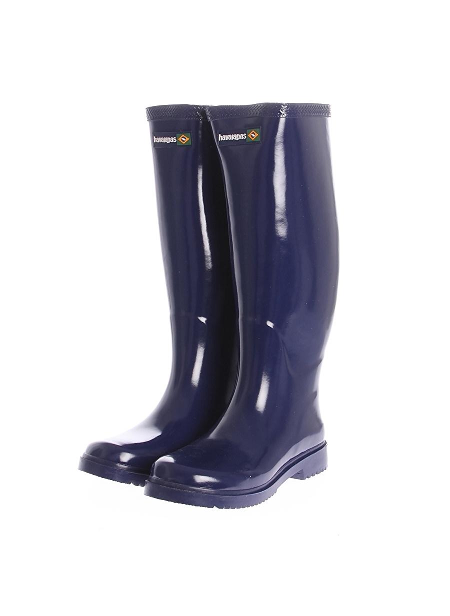 39 Koyu Lacivert Havaianas Yağmur Çizmesi Ayakkabı Çanta Kadın Bot