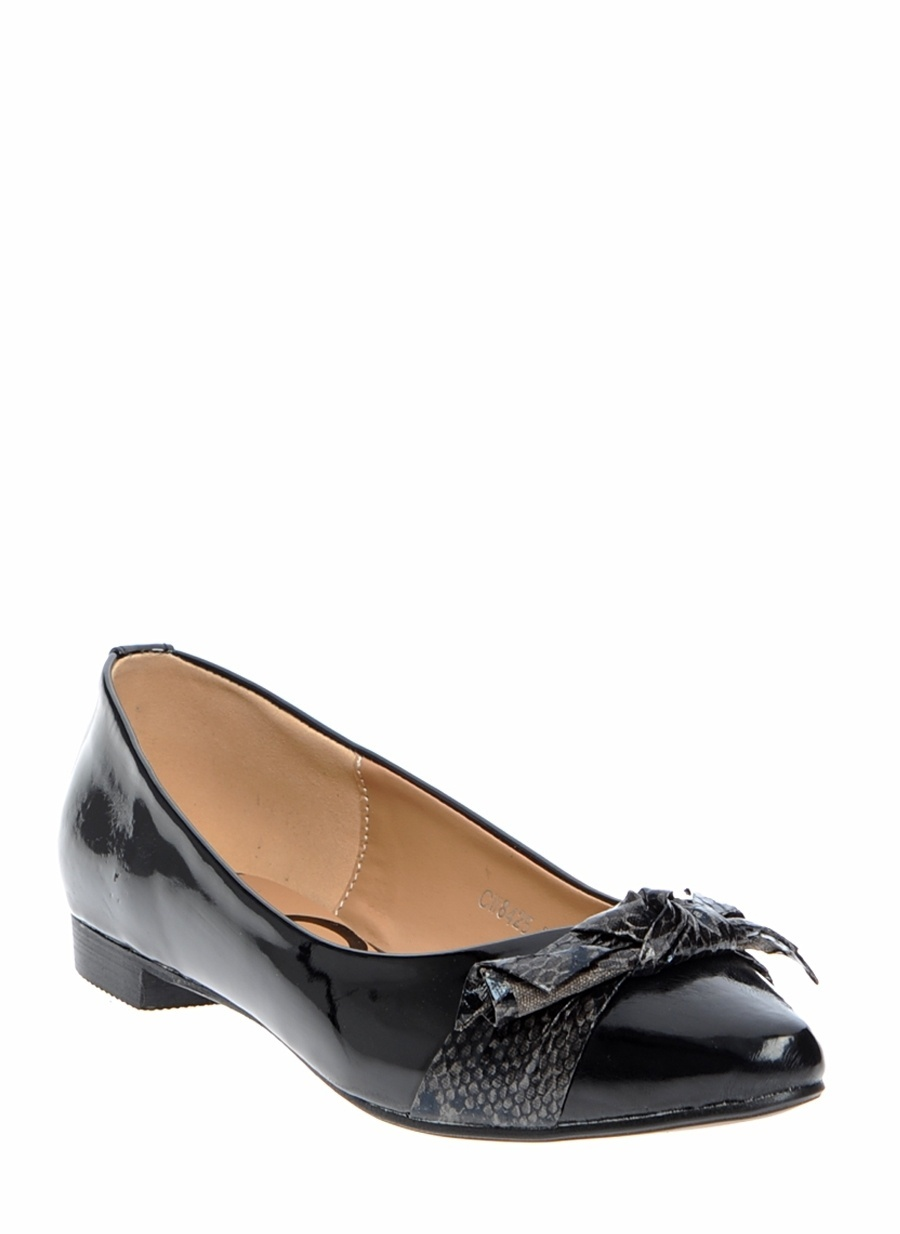 37 Siyah Canzone Babet Ayakkabı Çanta Kadın