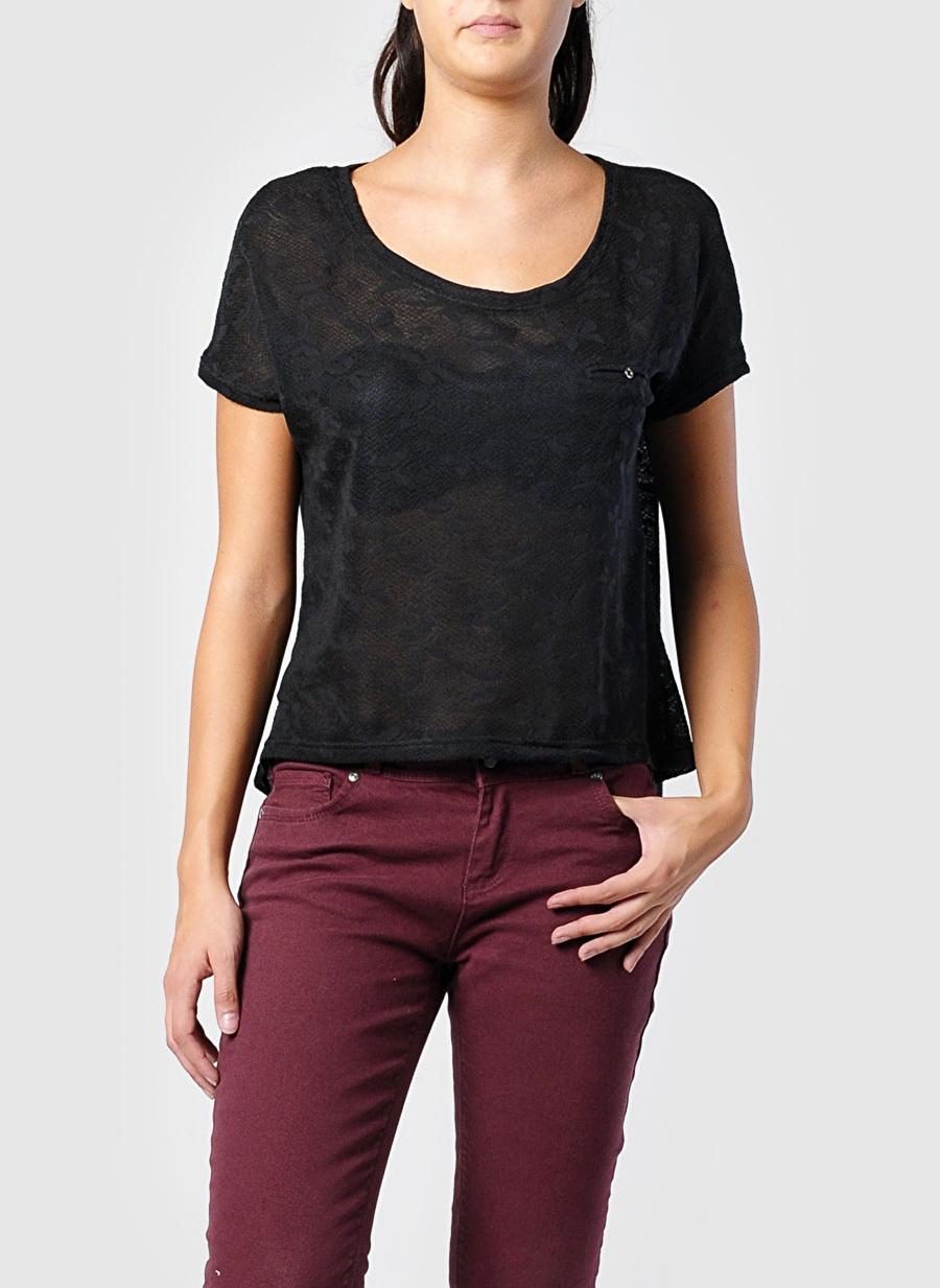 M Siyah T-Box T-Shirt Kadın Giyim T-shirt Atlet