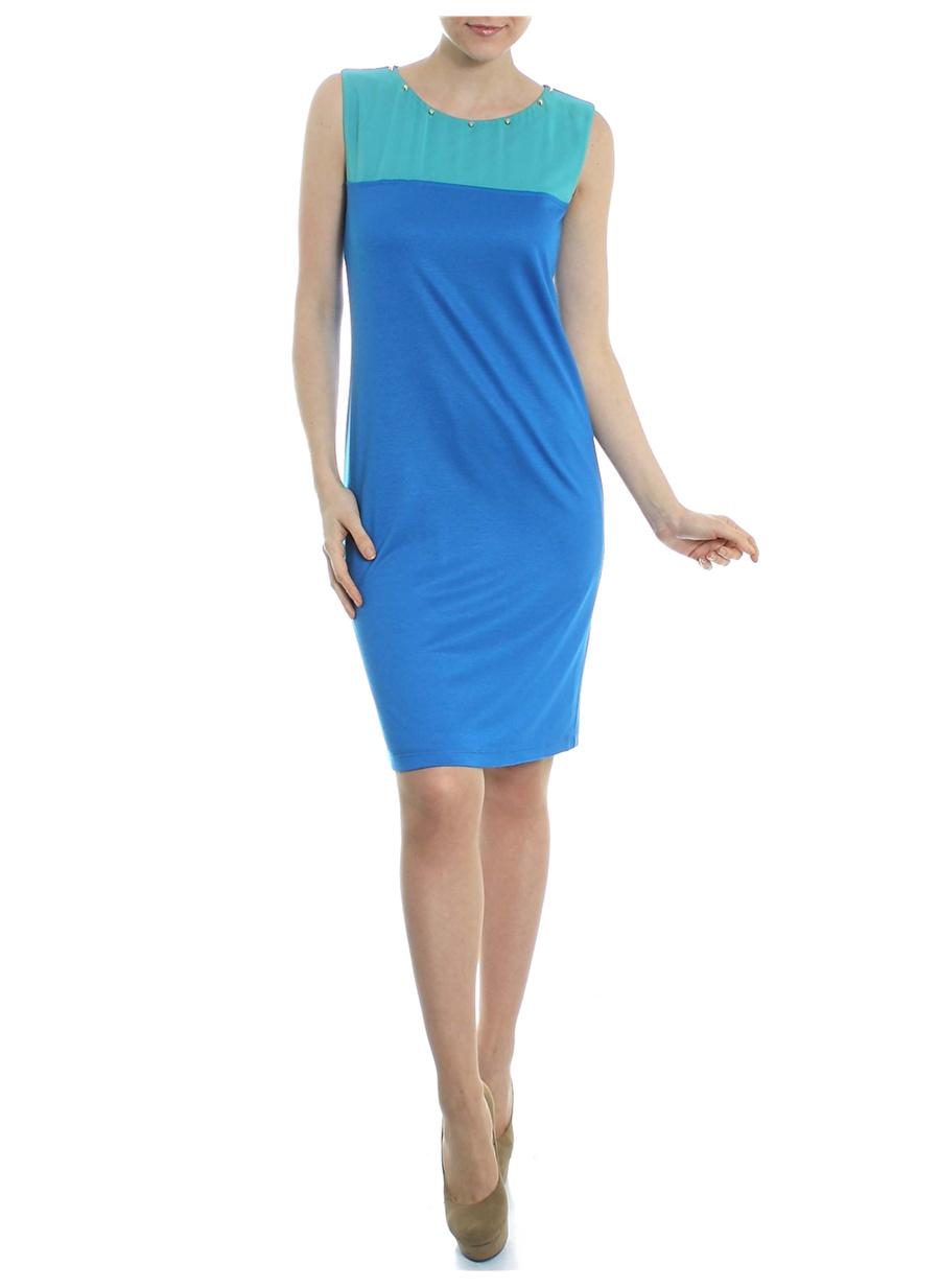 L Mavi Limon Elbise Kadın Giyim