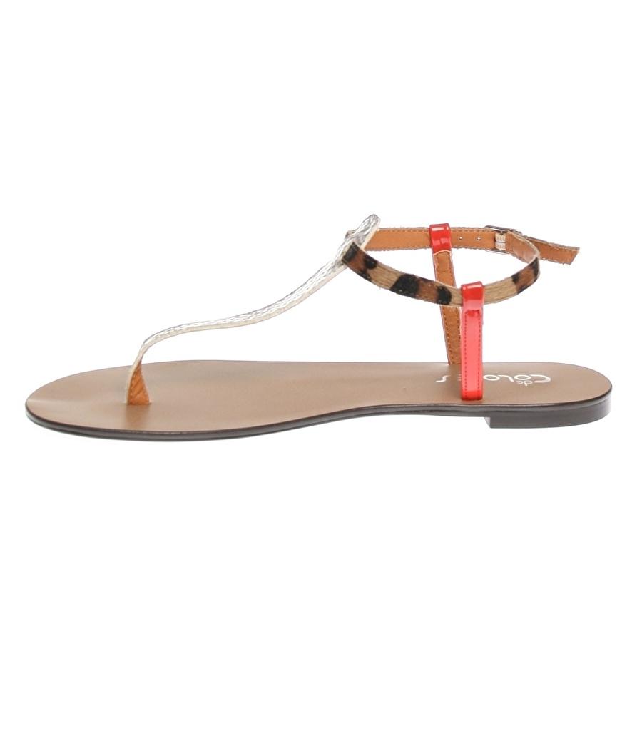 37 Bej De Colores Sandalet Kadın Terlik
