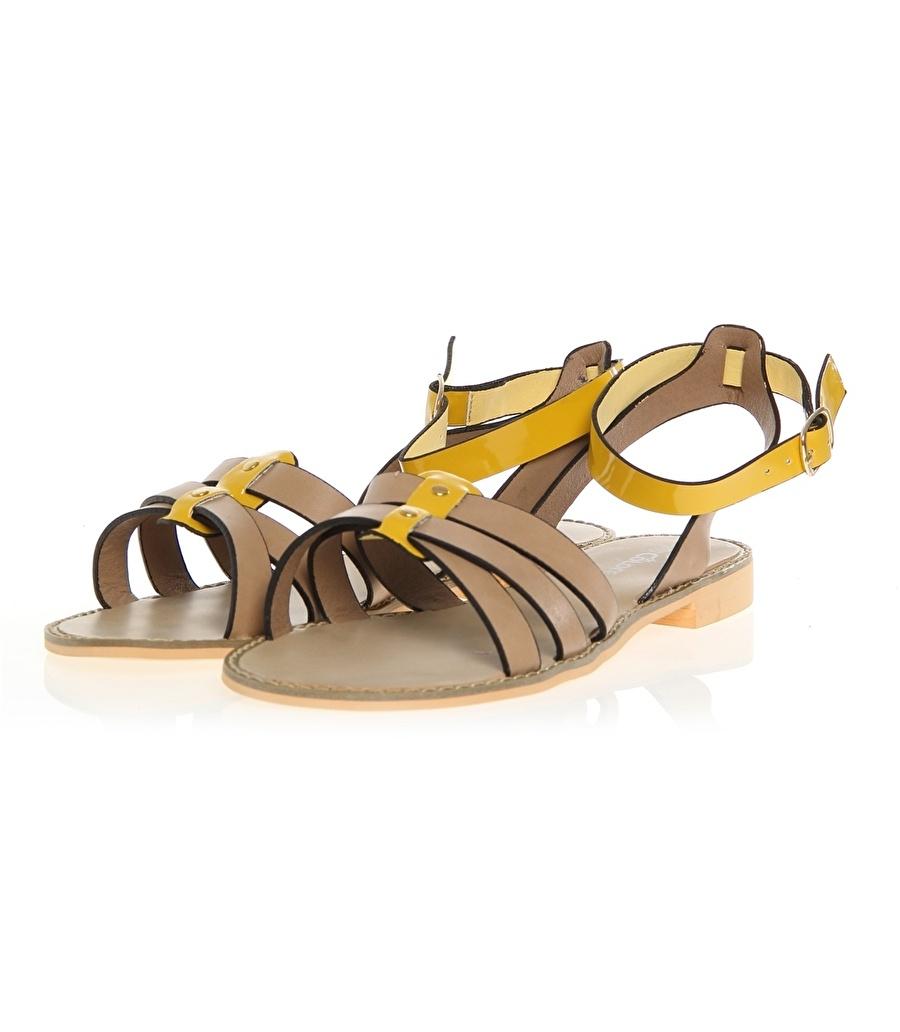 38 Bej De Colores Sandalet Kadın Terlik