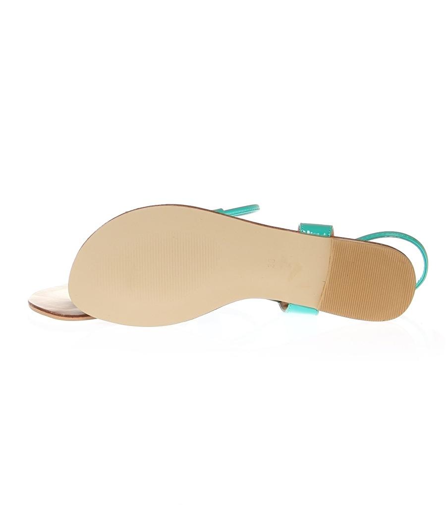 37 Koyu Turkuaz De Colores Sandalet Kadın Terlik