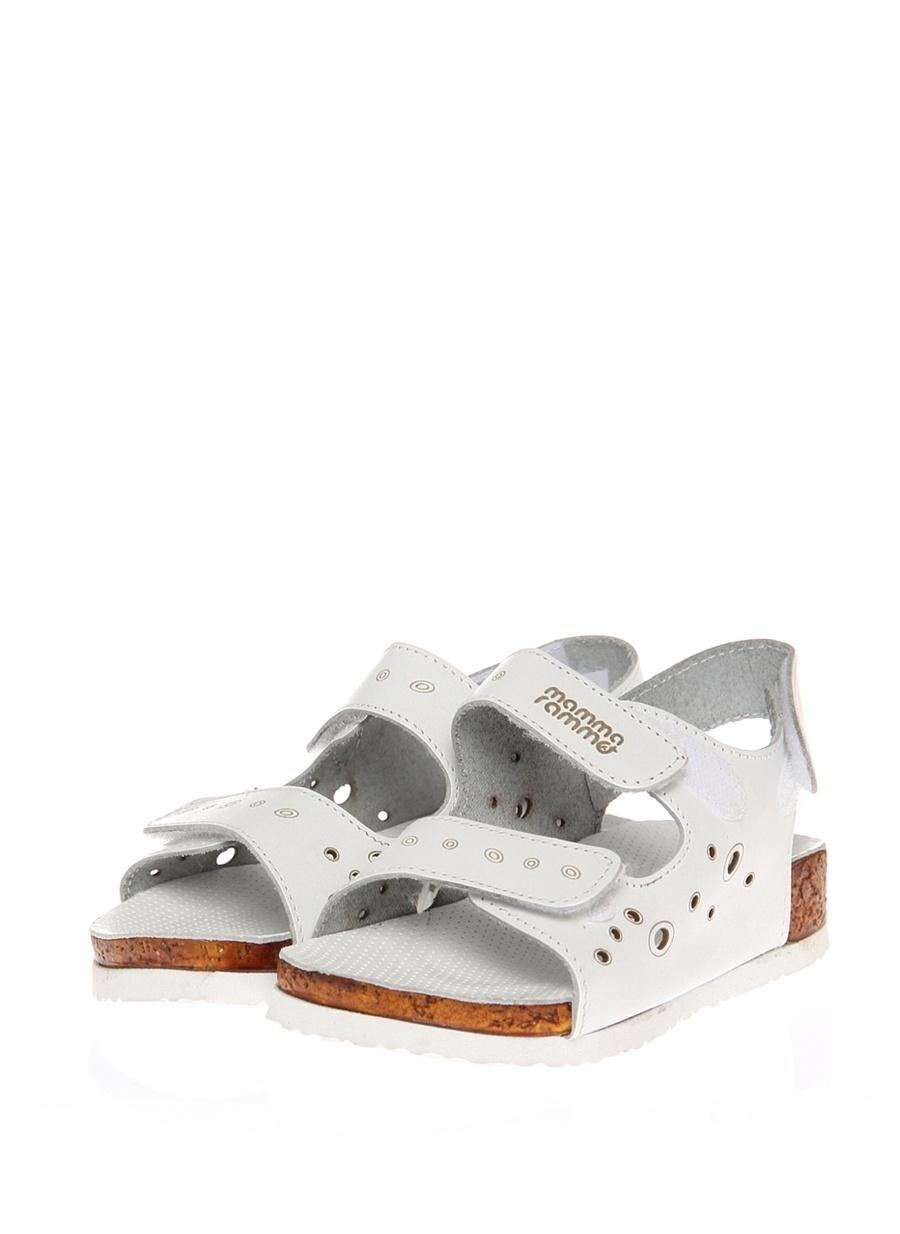 27 Erkek Beyaz Mammaramma Plaj Terliği Ayakkabı Çanta Çocuk Ayakkabıları Terlik Sandaletler