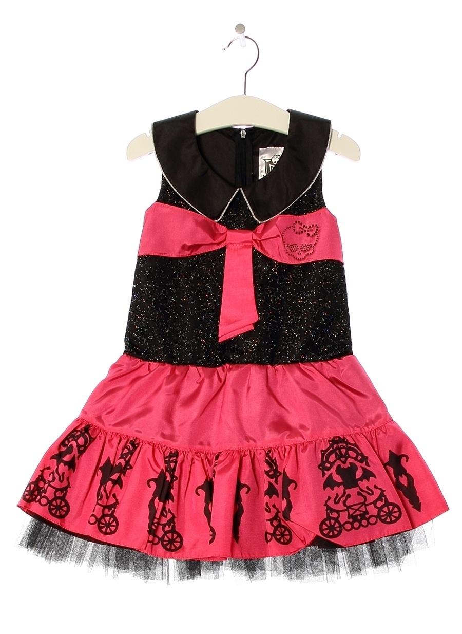 10 Yaş Kadın Fuşya Monster High Elbise Çocuk Giyim Tunik