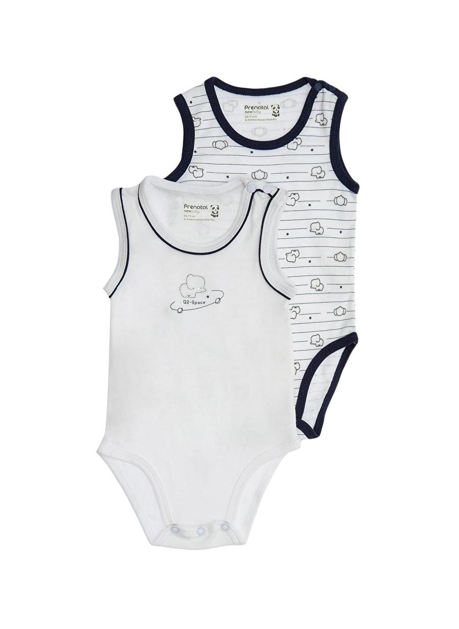 1 Ay unisex Beyaz Prenatal 2\'li Body Çocuk Bebek Giyim