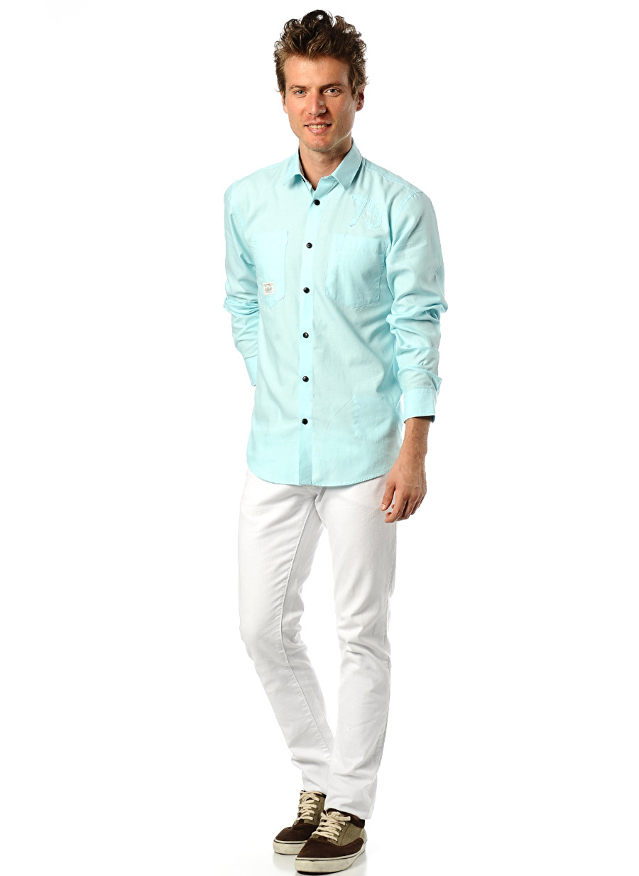 S Mavi Jack amp; Jones & Gömlek Erkek Giyim