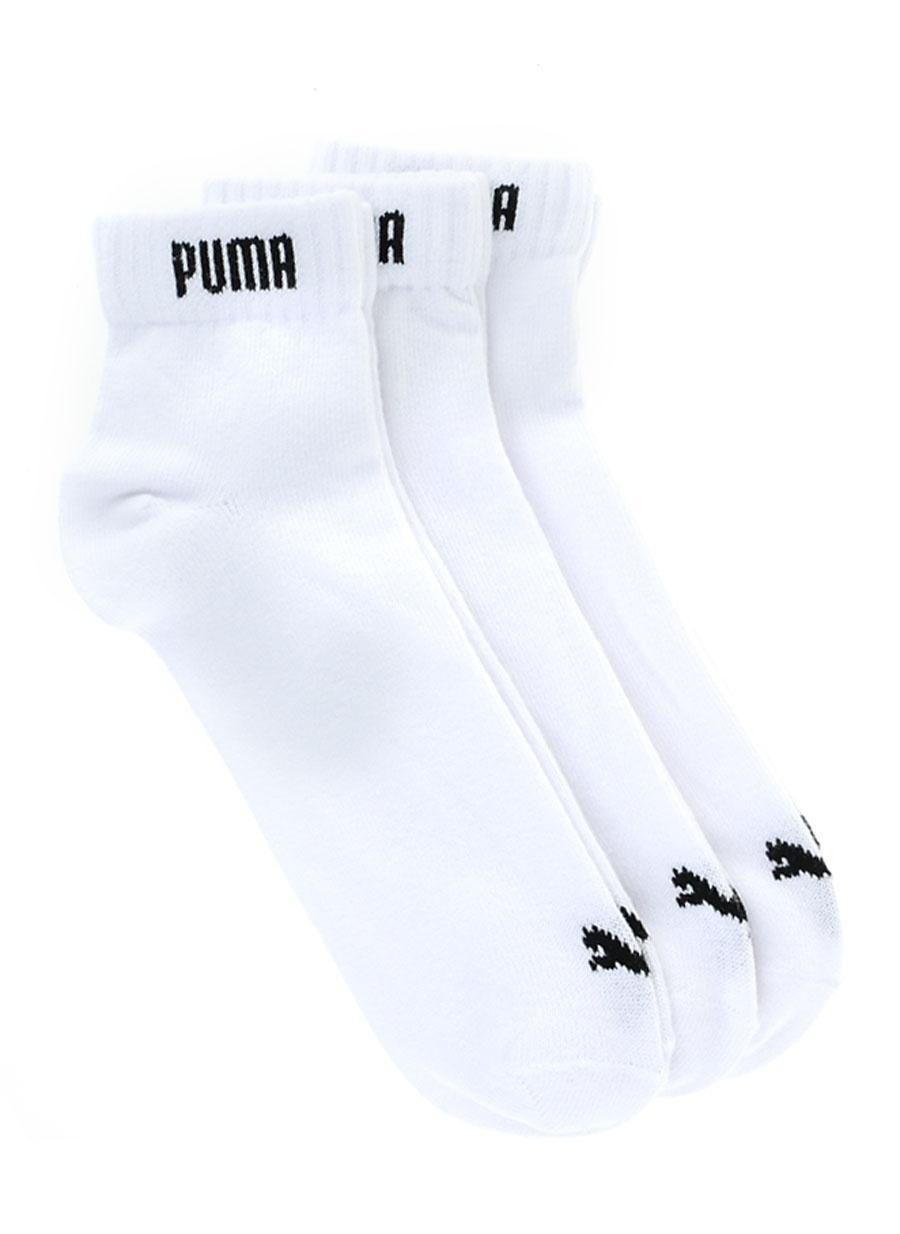 Standart unisex Beyaz Puma Spor Çorap Aksesuarları