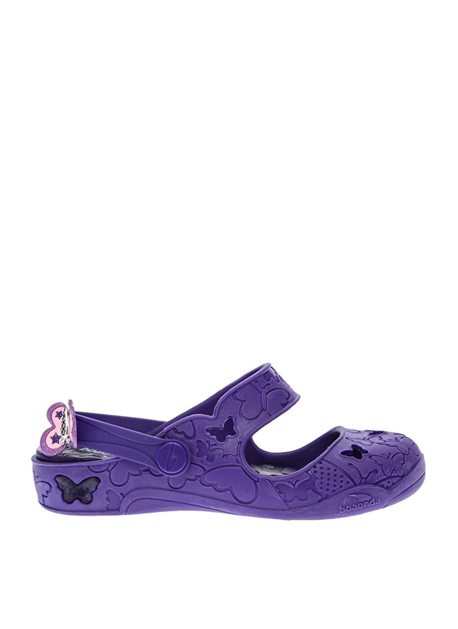 27 unisex Mor Boaonda Plaj Terliği Ayakkabı Çanta Çocuk Ayakkabıları Terlik Sandaletler