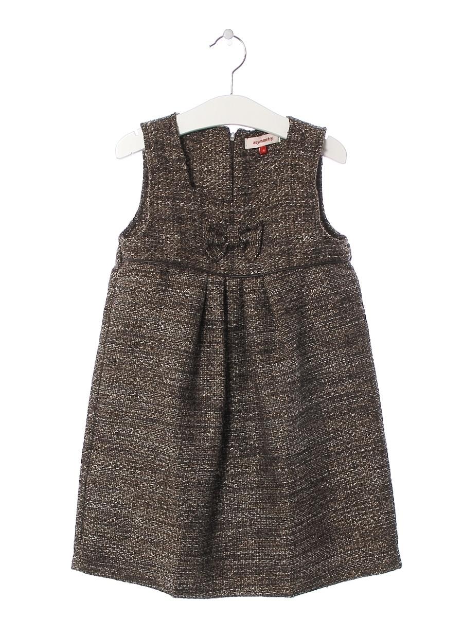 10 Yaş Erkek Kahve Asymmetry Elbise Çocuk Giyim