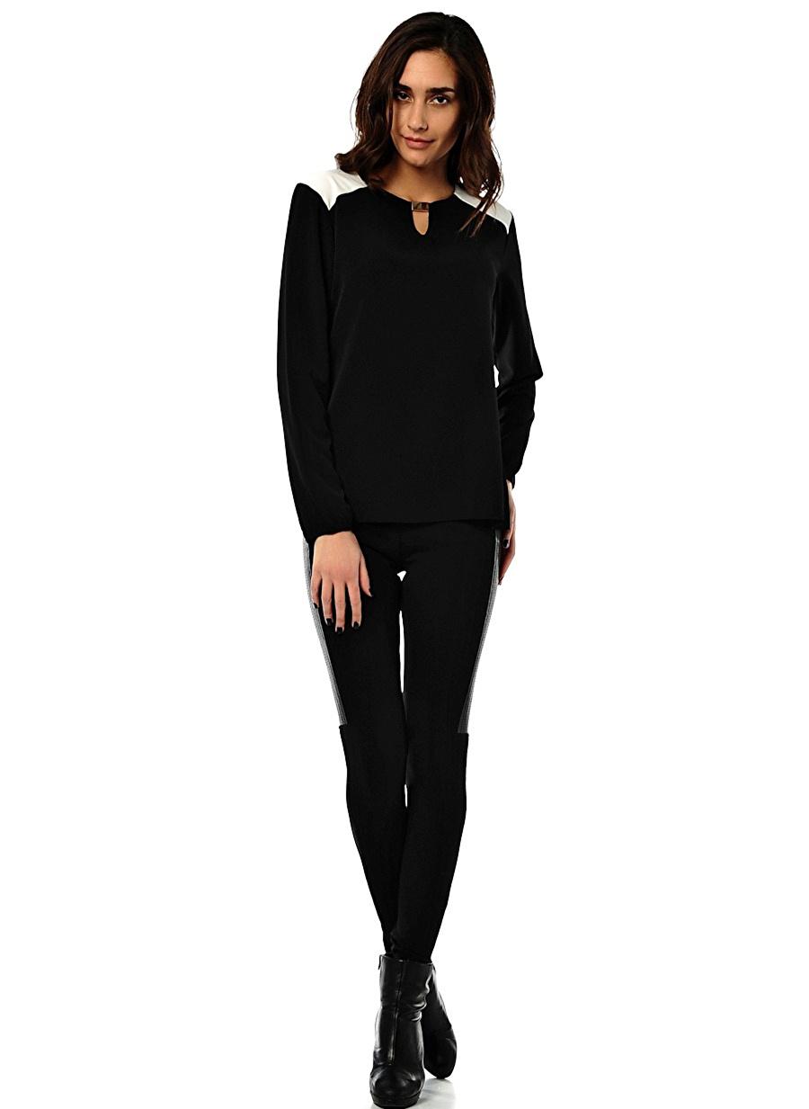 40 Siyah Agenda Bluz Kadın Giyim Gömlek