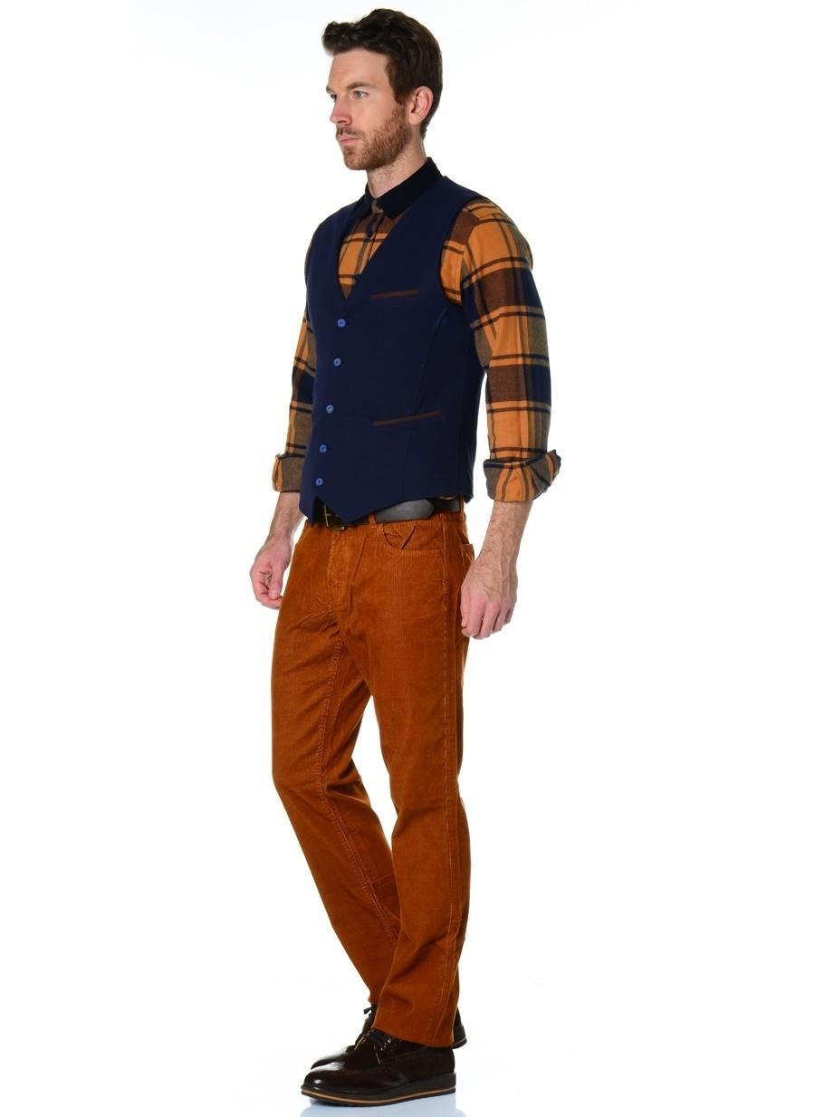 46 Sarı Volt Klasik Pantolon Erkek Giyim