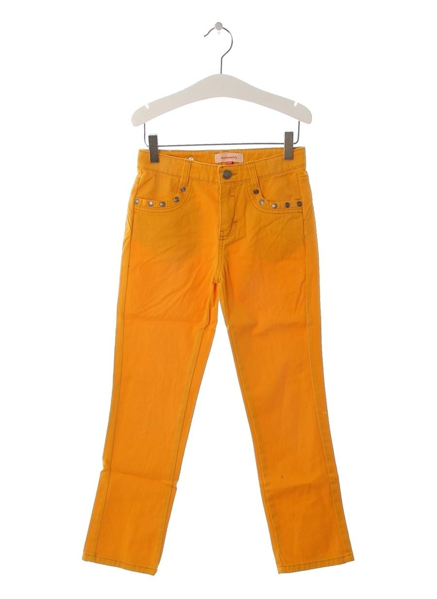 10 Yaş Kadın Hardal Asymmetry Pantolon Çocuk Giyim Tayt