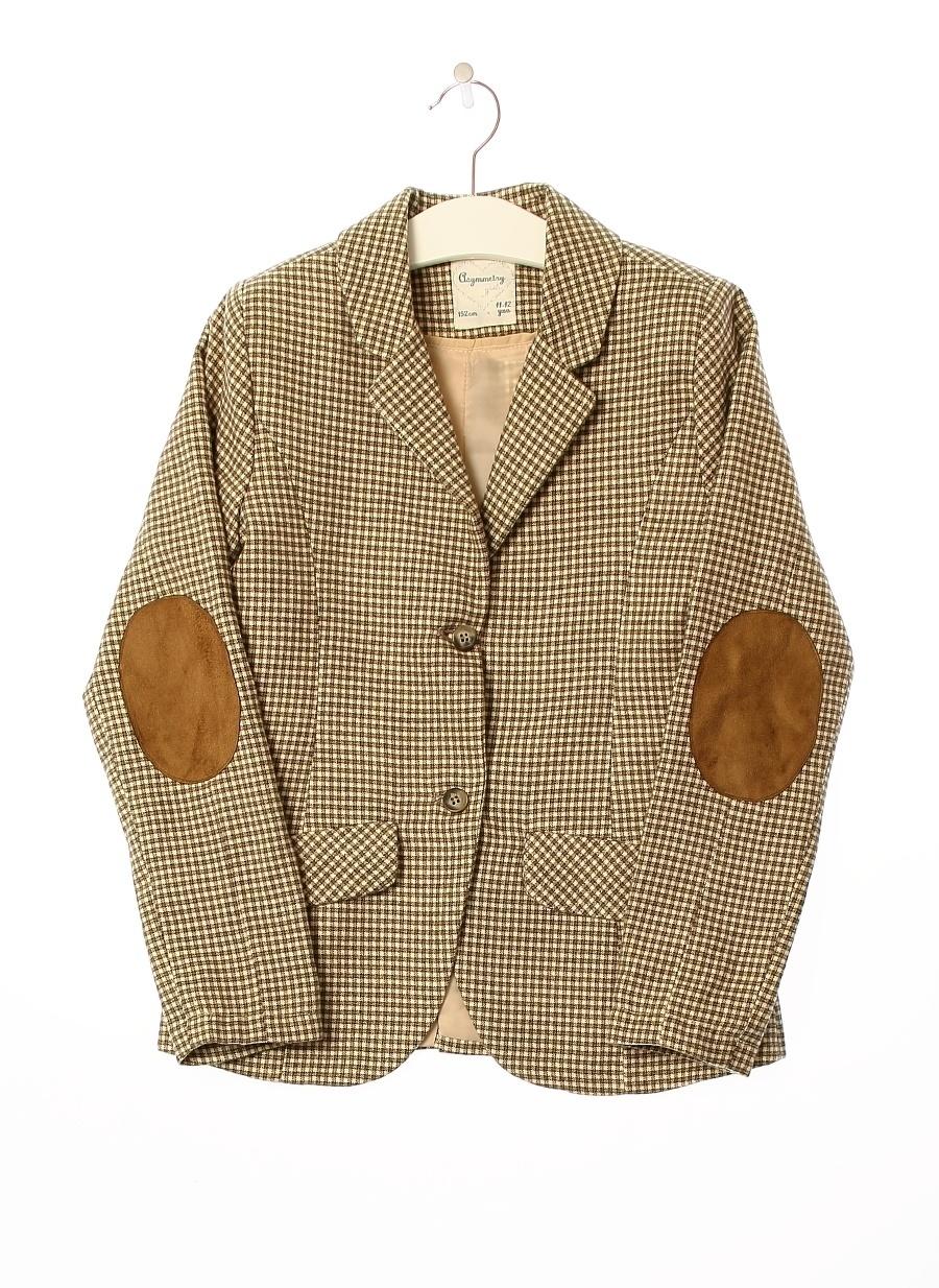 12 Yaş Kadın Bej Asymmetry Ceket Çocuk Giyim Yelek
