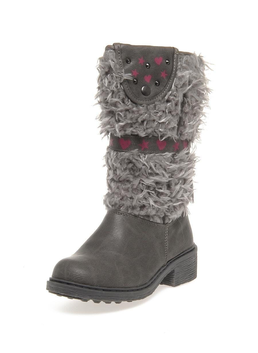 26 Kadın Gri Mammaramma Bot Ayakkabı Çanta Çocuk Ayakkabıları BotÇizmeler