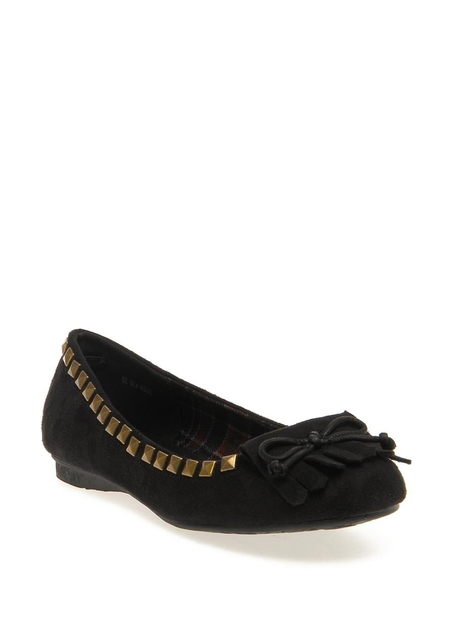 40 Siyah Gözegir Babet Ayakkabı Çanta Kadın