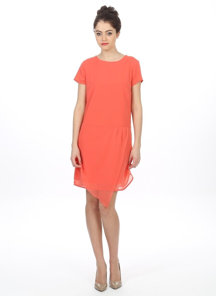 38 Neon Kırmızı Mia Elbise Kadın Giyim