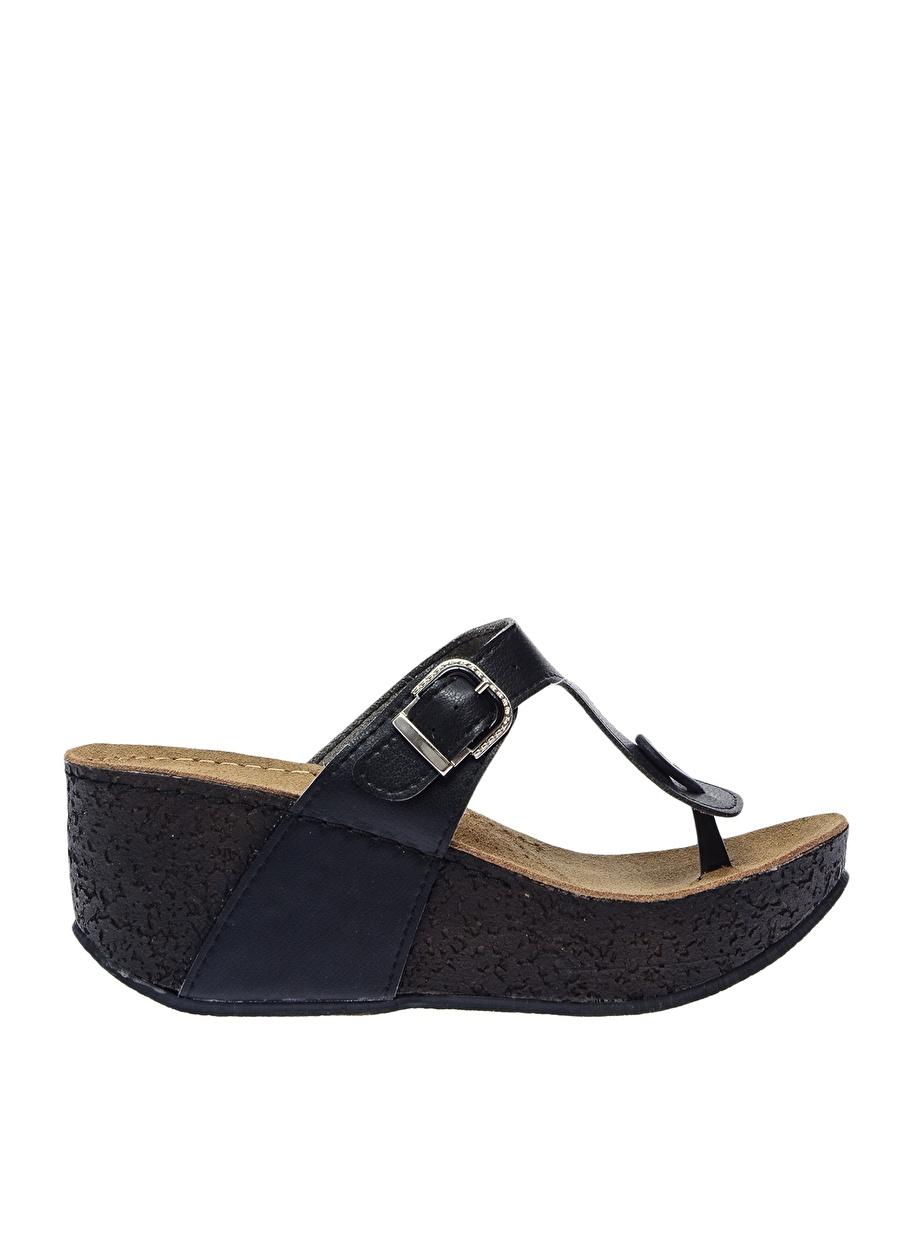 40 Siyah Muya Terlik Ayakkabı Çanta Kadın Sandalet