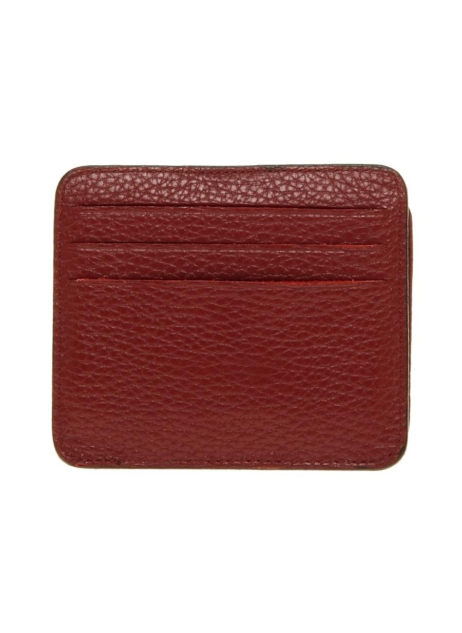 Standart Kırmızı Cotton Bar Çıtçıtlı Deri Cüzdan Ayakkabı Çanta Erkek
