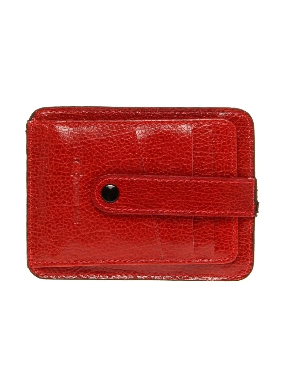 Standart Kırmızı Cotton Bar Çıtçıtlı Cüzdan Ayakkabı Çanta Erkek