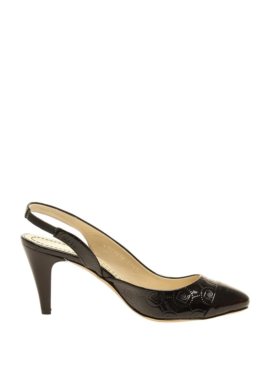 36 Siyah Pierre Cardin Topuklu Ayakkabı Çanta Kadın