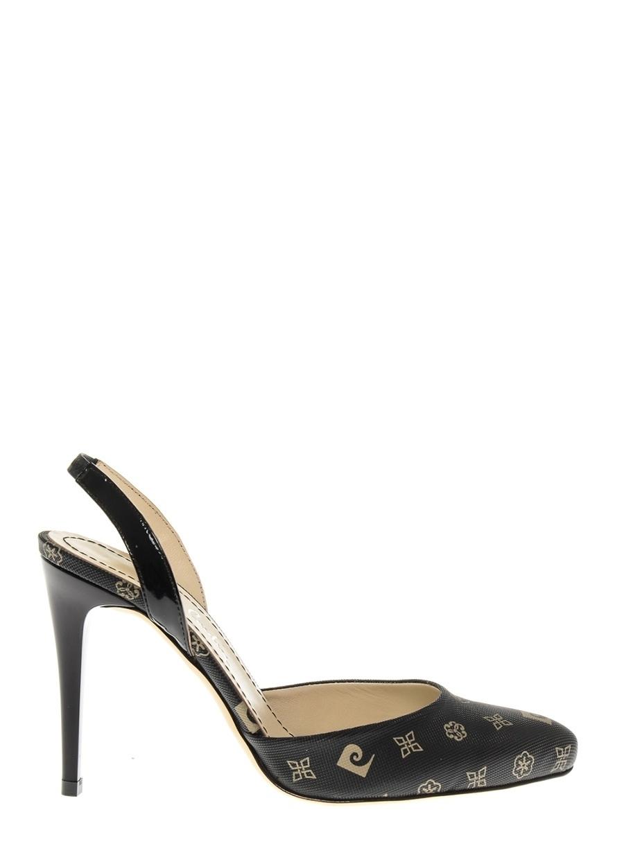 39 Siyah Pierre Cardin Topuklu Ayakkabı Çanta Kadın