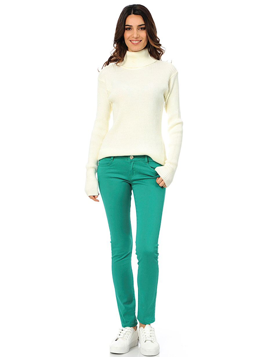 29 Yeşil Fashion Friends Pantolon Kadın Giyim