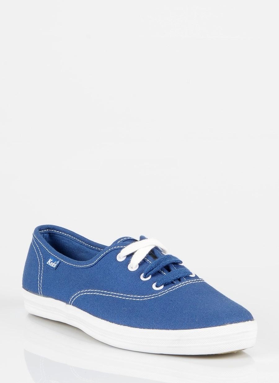 38 Mavi Keds Düz Ayakkabı Çanta Kadın