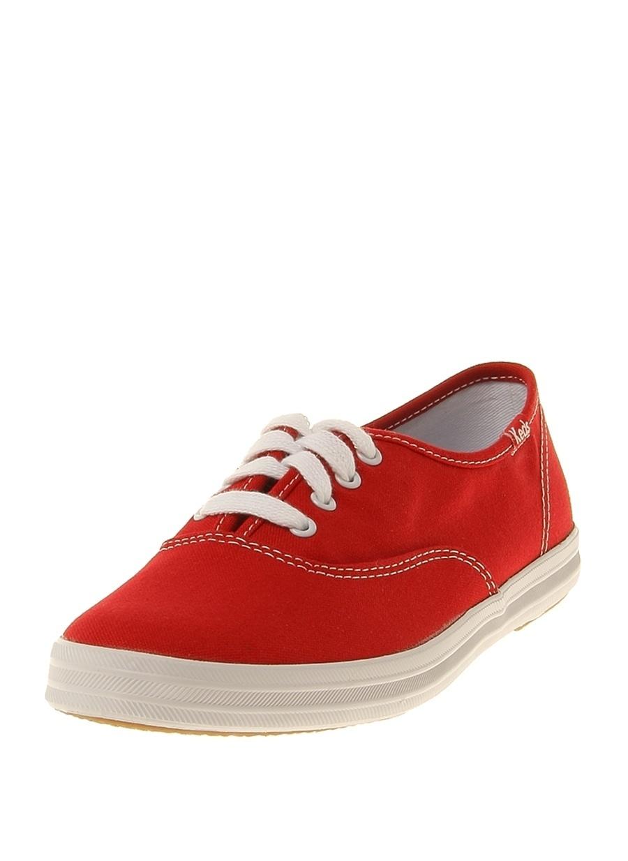 39 Kırmızı Keds Düz Ayakkabı Çanta Kadın